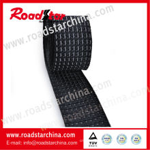 Polyester reflective safety webbing with reflective thread