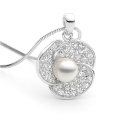 Fashion Jewelry Fresh Water Pearl 925 Silver Pendants Necklace Wholesales