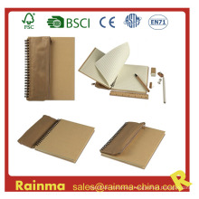 Eco Notebook with Pencil Bag and Stationery Set Inside