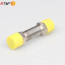Tuyau flexible de tuyau de gaz en métal A17 flexible avec des garnitures en laiton