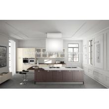 Cabinet de cuisine en bois massif moderne style américain standard de haute qualité