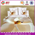 100% polyester 3D fabric 3D woven bed sheet set printed polyester chiffon fabric