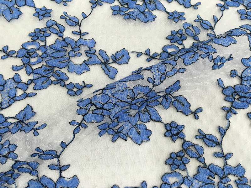 Poly Frenc Lace Mesh Embroidery Fabric