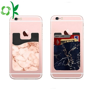 Fashion Silicone Phone Wallet Marmor 3M Card Holder