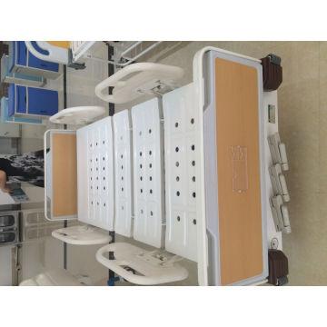 Cama manual de três funções manual com ABS e cabeça de cama de aço