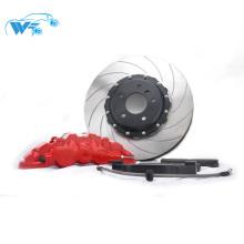 Boa qualidade 380 * 34mm rotor de freio em linha reta com tampa de centro de cor Preta com WT8520 paquímetro para silvia S14 19 '' RIM
