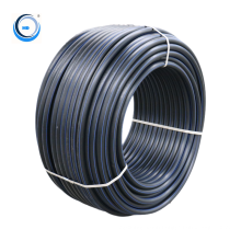 Flexible black plastic hdpe  water pipe roll for drip irrigation