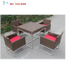Квартира Ratttan сад обеденный стол комплект с 4 стул seater