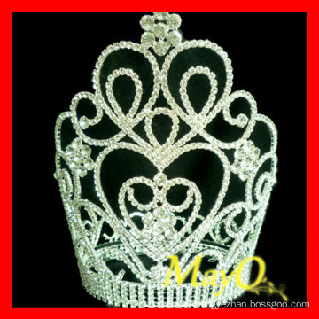 Large tall crystal pageant crowns