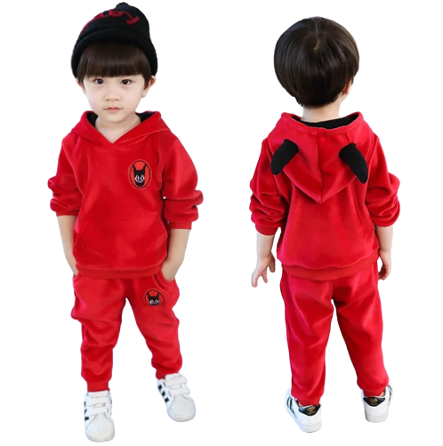 Boys Girls Unisex Thicken Fashion Long-sleeved Suit