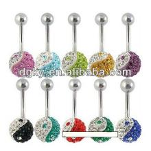 Ying y Yang piercing ombligo botón joyas