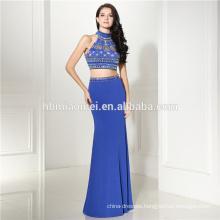 Loyal blue sleevelss sweetheart mermaid beaded elegant one hand evening dresses