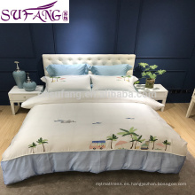 Muestras Avaliable 200x220cm 60s Low Price Cotton Bed Linen Juego de sábanas