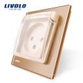 Livolo EU Standard Prise de courant Israël avec capot étanche AC 100 ~ 250V 16A VL - C7-C1ILWF-13