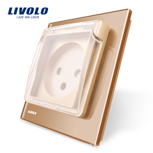 Livolo Стандарт ЕС Розетка с водонепроницаемой крышкой, AC 100 ~ 250В, 16А VL - C7-C1ILWF-13