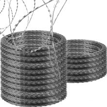 Customized Galvanized Razor Barbed Wire as Security Fence for Airport and Military Base on Amazon & Ebay