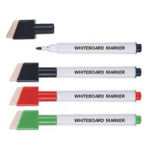 Marcador plástico de pizarra blanca con cepillo