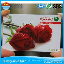 Leere PVC Inkjet Sle4428 Kontakt IC Smart Card