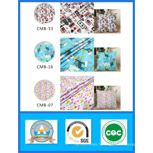 Tissu de vente bon marché 100% coton imprimé tissu de toile poids 200GSM largeur 150cm