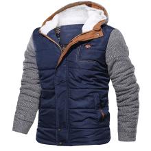 Inverno quente engrossar casaco com capuz ao ar livre