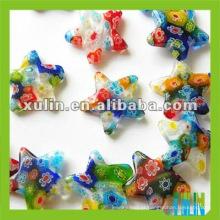 miçangas de vidro millefiori linda forma de estrela