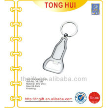 Blank Silver custom shape metal bottle openers keyrings