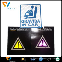 China manufacturer fluorescent reflective wall sticker for guide sign