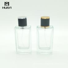 china manufacturer empty rectangular 100ml perfume glass bottle