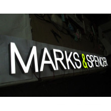 Pop 304 Stainless Steel Acrylic Channel Letter LED Sign