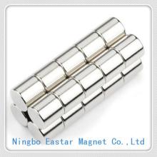 Cylinder Neodymium Magnet with Long Life Nickel Plating