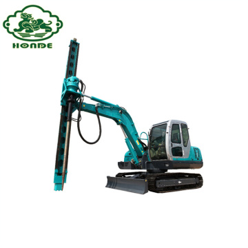 Spiral Hydraulic Piling Machine For Ground Screw