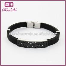 black men's silicone bracelet silicone bracelet wholesale leather bracelets for men