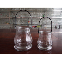 2PCS Glass Candle Holders