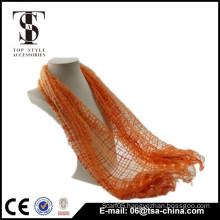 new women fashion orange viscose and nylon tassels scarf shawl