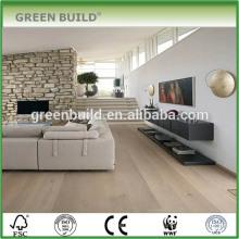 Salon Plancher de bois solide imperméable blanc clair de chêne