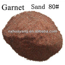 Granate abrasivo de voladura de arena # 80 / Granate de corte de chorro de agua de malla 80