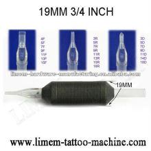 Poignée jetable de tatouage de silicone de 3 / 4inch 19mm