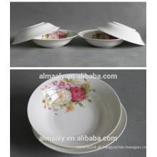 placa cerâmica branca para frutas ou alimentos