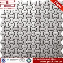 Fornecimento de fábrica de porcelana Mosaico de aço inoxidável de forma óssea