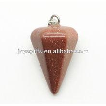 Pendentif en pierre ornée de pendentifs en forme de cône latérale 6