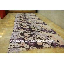 écharpes imprimées de laine de châle de cou d'écharpe de mode mince