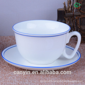 Cafe sitting room of household ceramic cups and saucers suit