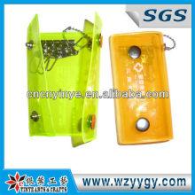 Reflective yellow color pvc key wallets