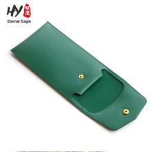 Button design exquisite leather pencil bag