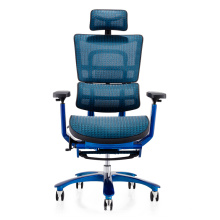 Luxury chromed aluminum alloy chair kneeling office chair with footrest