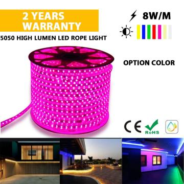 5050 Cuerda LED multicolor color rosa claro
