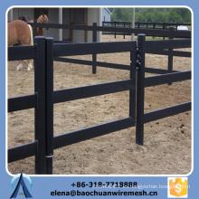 Barata profesional de alta calidad valla de ferrocarril de ganado para caballo