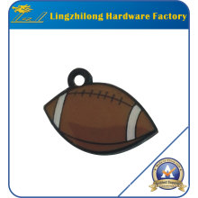 Rugby Design Metal Charm with Hole