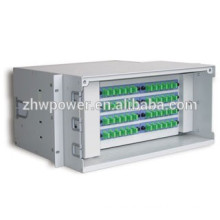 Rack Mounted Indoor Fiber Optic ODF/Distribution Frame/Patch Panel for telecommunication engineering
