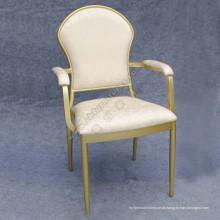 Cadeira de hotel de alumínio de prata com braço (YC-L12-01)